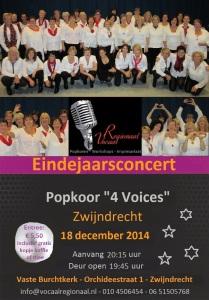 flyer 4 Voices eindejaarsconcert 2014 def